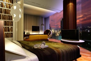 Bedroom, 3D visualization modern style